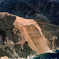 Aerial Of Mcway Landslide Big Sur California 1984 by California Views Archives Mr Pat Hathaway Archives