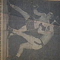 Me Fighting Bill Waits 1954 by Robert Floyd