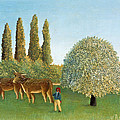 Meadowland. The Pasture  by Henri Rousseau