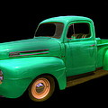Mean Green - 48 Ford by Myrna Bradshaw