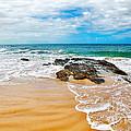 Meandering Waves On Tropical Beach by Kaye Menner