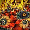 Medieval Ceremonial-fractal Art by Karin Kuhlmann