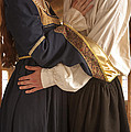 Medieval Couple Embracing by Lee Avison