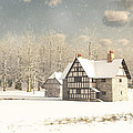 Medieval Farmhouse In Winter Snow by Fairy Fantasies