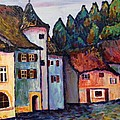 Medieval Village Of St. Ursanne Switzerland by Art Nomad Sandra  Hansen