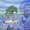 Meditation On Buddha Blue by Dominique Amendola
