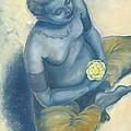 Meditation With Flower by Judith Grzimek