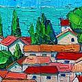 Mediterranean Roofs 1 2 by Ana Maria Edulescu