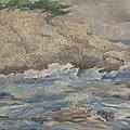 Mediterranean Sea Rocks by Robert Engel