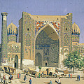 Medrasah Shir-dhor At Registan Place In Samarkand, 1869-70 Oil On Canvas by Vasili Vasilievich Vereshchagin