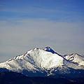 Meeker And Longs Peak Massive In Snow by Thomas Samida