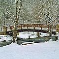 Meeks Park Bridge In Snow by Kenny Francis