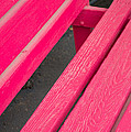 Wimberley Texas Market Red Bench by JG Thompson
