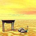 Meeting On Plain - Surrealism by Sipo Liimatainen