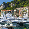 Mega Yachts In Port Of Nice France by Elena Elisseeva