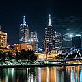 Melbourne In Night by Kenji Lau