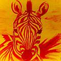 Mellow Yellow Zebra by Scott Dokey