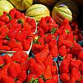 Melons And Strawberries by Dany Lison