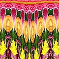 Melting Lily And Chrysanthemums Abstract by Rose Santuci-Sofranko