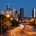 Memorial Drive And Houston Skyline by Bill Cobb