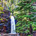 Memorial Falls In Montana by John Lee
