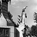 Memorial Statue Children Playing Juarez Chihuahua Mexico 1977 Black And White by David Lee Guss