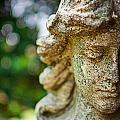 Memphis Elmwood Cemetery - Girl With Cross Close-up by Jon Woodhams