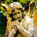 Memphis Elmwood Cemetery - Praying Angel by Jon Woodhams