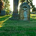 Memphis Elmwood Cemetery - Backlit Grave Stones by Jon Woodhams