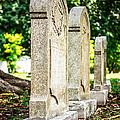 Memphis Elmwood Cemetery Monument - Four In A Row by Jon Woodhams