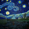 Dedication To Van Gogh Memphis Starry Night by Jack Lepper