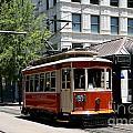 Memphis Trolley On Main Street by Bill Cobb
