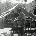 Men At Mining Camp by Larry Ward