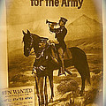 Men Wanted For The Army Poster No Date Ghost Town South Pass City Wyoming 1971 Vignetted Toned 2008 by David Lee Guss
