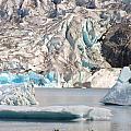 Mendenhall Glacier Detail Juneau Alaska by Phil Welsher