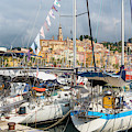 Menton, France.  View Over Harbour by Ken Welsh