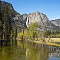 Merced River And Yosemite Falls by Jane Rix