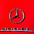Mercedes 300 Sl Emblem -0121c by Jill Reger