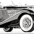 Mercedes 540k  - Parallel Hatching by Samuel Majcen