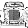 Mercedes Benz 300 Luxury Car Illustration by Keith Webber Jr