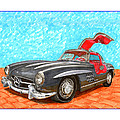 Mercedes  Benz 300 S L Gull Wing by Jack Pumphrey