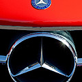 Mercedes-benz 300 Sl Grille Emblem by Jill Reger