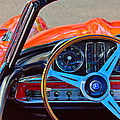 Mercedes-benz 300 Sl Steering Wheel Emblem by Jill Reger