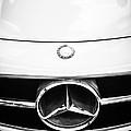 Mercedes-benz Grille Emblem -0230bw by Jill Reger