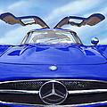 Mercedes Gullwing In Blue by Rod Seel