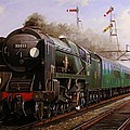 Merchant Navy Pacific At Brookwood. by Mike Jeffries