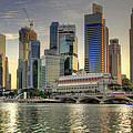 Merlion Park In Singapore 3 by David Gn