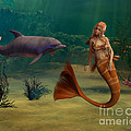 Mermaid And Dolphin by Design Windmill