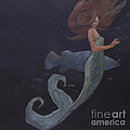 Mermaid And The Blue Fish by Mary Hubley
