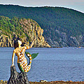 Mermaid On A Dock In Twillingate Harbour-nl by Ruth Hager